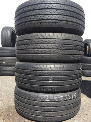 235/55/17 Michelin set of used tires in great condition 70% tread 200$ for 4 . Installation balance and alignment available. Road force balance avai for Sale in Union, NJ