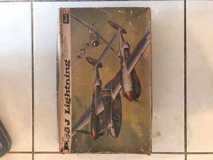 Revell Lockheed P-38 J Lightning Aircraft Model Kit #H-280 Vintage for Sale for sale  Miami, FL