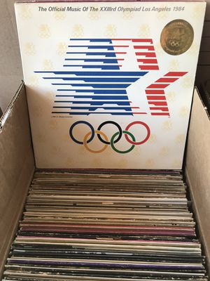 Box of 100+ Vintage Vinyl Records for Sale in Chino Hills, CA