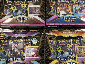 4 Pokémon Shining Fates Mad Party Pin Collection NEW for Sale in San Jose,  CA