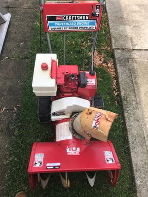 "Craftsman 2 stage 22"" power propelled snow blower for Sale in Elk Grove Village, IL"
