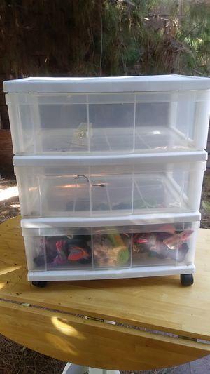 3 drawer plastic storage bins on wheels for Sale in HUNTINGTN BCH, CA