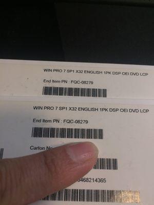 New unused Windows Pro 7 32bit for Sale in Sacramento, CA