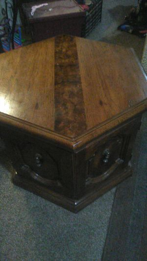 Hexagon wooden end table for Sale in Hanford, CA