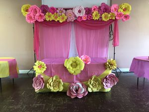 paper flower party decorations for Sale in Sterling, VA