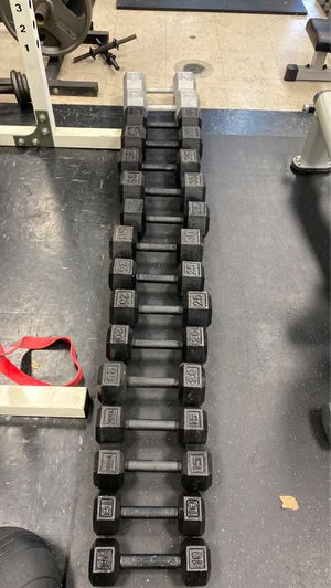 Iron dumbbells set10'15'20'25'30'35'40'50 for Sale in Anaheim, CA