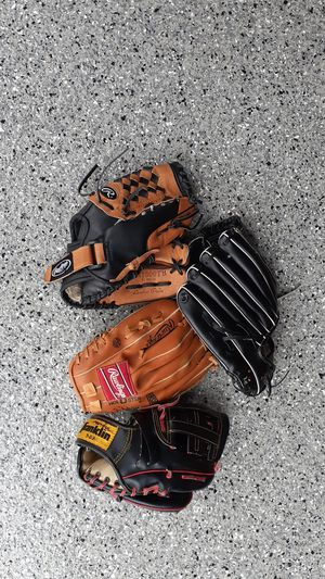 Used baseball gloves for Sale in North Aurora, IL