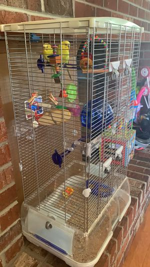 Vision Bird Cage with extension and all accessories for Sale in East Brunswick, NJ