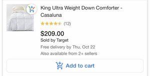 King ultra weight comforter casaluna for Sale in Seattle, WA