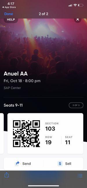 Anuel AA ticket 150$ for Sale in Milpitas, CA