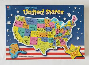 Map of the United States, Includes Alaska & Hawaii, by Milton Bradley for Sale in Silver Spring, PA