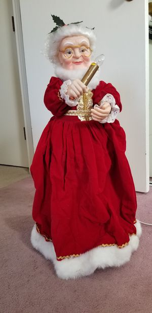 """Vintage 1990- Animated 26"""" Mrs Santa Claus Lighted for Sale in Sudbury, MA"""