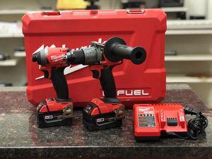 Milwaukee fuel brushless drill set for Sale in Austin, TX