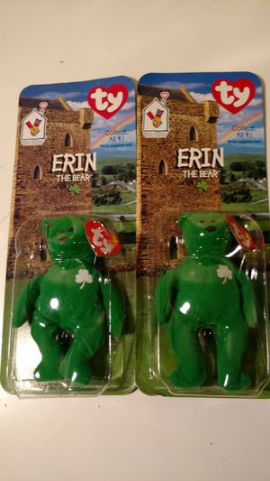 Two highly collectible McDonald's ty beanie babies Erin for Sale in Columbus, OH