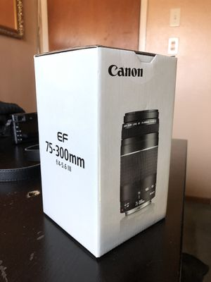 Canon EF 75-300mm f/4-5.6 III lens for Sale in Santee, CA