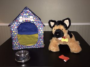 BuildABear German Shepard w/ dog house, bone for Sale in Olmsted Falls, OH