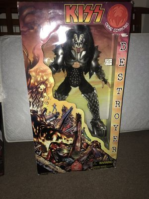 Kiss Gene Simmons collective action figure .. 2 ' action figure plays god of thunder. Paid $400 must sell need $$ for new baby. for Sale in Clermont, FL