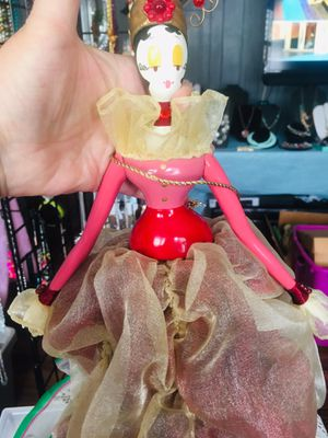 Doll Wooden In Organza Well Made Dress 13 Tall for Sale in El Sobrante, CA