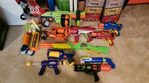 Lot of Nerf Guns and extras for Sale in Bordentown, NJ
