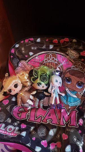 Lol dolls 2 lol 1shopkinplus back pack for Sale in Norwalk, CA