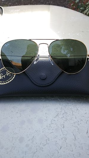 """Ray Ban """"Aviator Large Metal"""" :: RB3025 - Green Gradient Lenses for Sale in Sacramento, CA"""