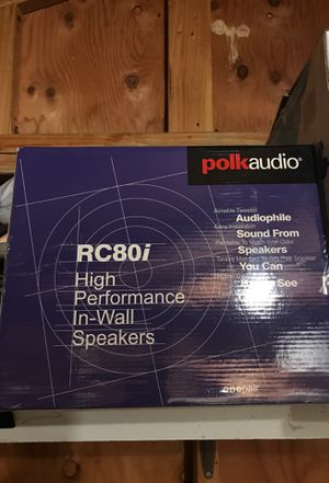 Polk audio high performance in wall speakers for Sale in San Leandro, CA