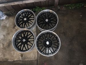 19 Maya 3pc staggered wheels rims for Sale in Orange, CA