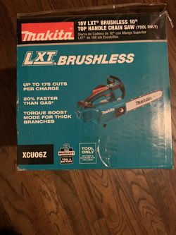 """Makita 18LXT Brushless 10"""" Top Handle Chain Saw """"Tool only"""" for Sale in Dallas, TX"""
