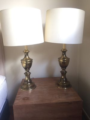 Two brass lamps set for Sale in West Hollywood, CA