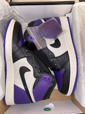 jordan 1 court purple size 7.5 men for Sale in Fort Smith, AR