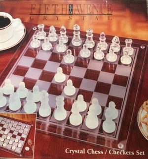 Crystal 57 pc. Chess/Checkers Set for Sale in Syracuse, UT