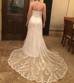 Wedding Dress Halter Size 8 for Sale in Harker Heights, TX