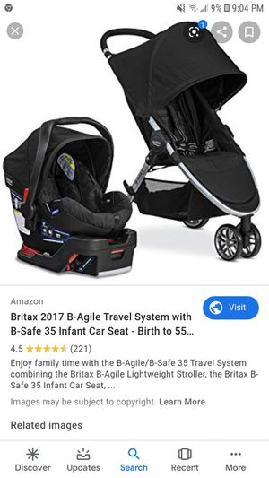 Britax b angle stroller and infant car seat for Sale in San Jose, CA