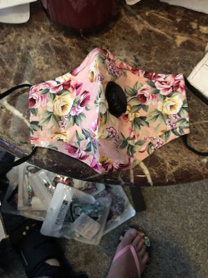 Pretty rose floral mask with filter for Sale in Parkville, MD