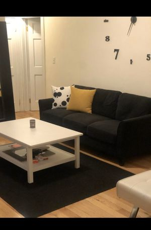 Moving Sale! Queen size bed frame, sofa, coffee table, area rug for Sale in New York, NY