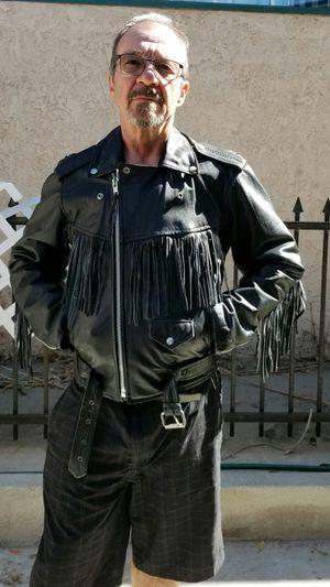 Fringe leather black jacket for Sale in Whittier, CA
