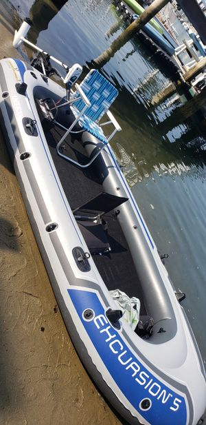 Custom-Made Decks for Intex Excursion Raft(boat + motor not for sale) for Sale in Lakewood, CA