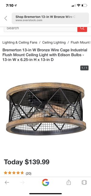 Industrial light fixture for Sale in Sterling Heights, MI