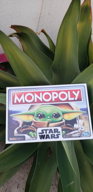 NEW The Mandalorian Baby Yoda Star Wars Monopoly Boardgame board game Comes from a pet-free and smoke-free home. Brand new in original package. $15. for Sale in Ventura, CA