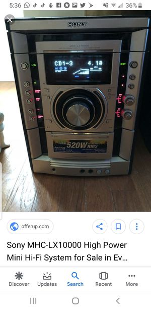 Sony stereo for Sale in Jefferson, MD