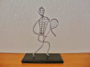 (FREE DELIVERY) tennis player abstract art, home decor for Sale in Las Vegas, NV