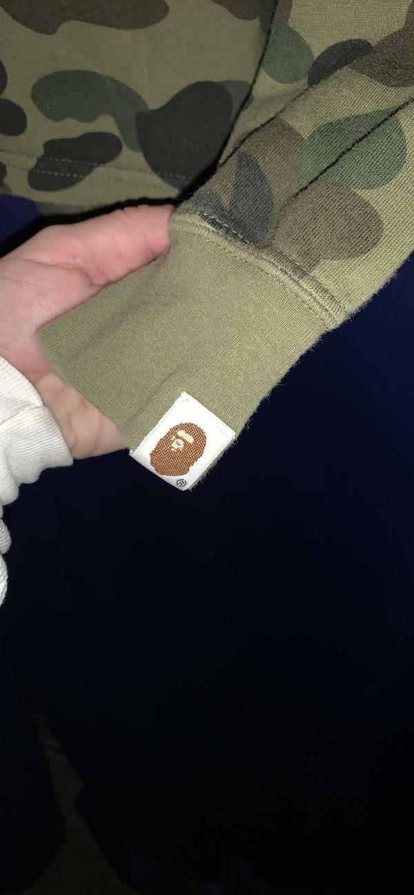 authentic BAPE Bathing Ape rare camo shirt