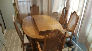 Dining room set, oak (6) chairs including one leaf MOVING SALE for Sale in Hermon, ME
