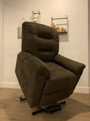 NEW Power-Lift Recliner Chair with Fabric Upholstery, Chocolate for Sale in Peoria, AZ