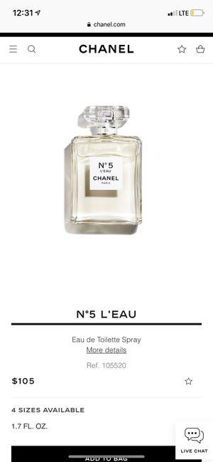 Chanel n°5 Paris perfume for Sale in El Cajon, CA