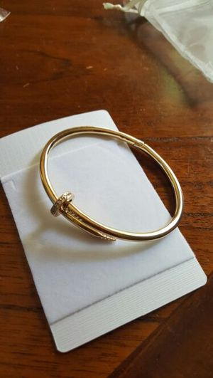 18k gold plated Swarovski elements cuff bangle $154 for Sale in Severn, MD