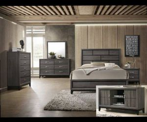Queen bed frame. Dresser. Mirror. One night stand. Price firm for Sale in Diamond Bar,  CA