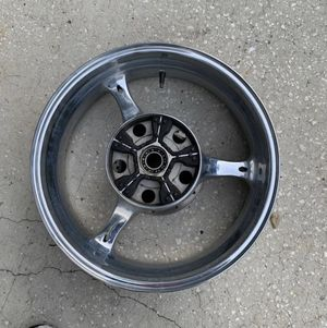 Suzuki 18 inch motorcycle rim selling for parts I don't know that much about it for Sale in Palm Harbor, FL