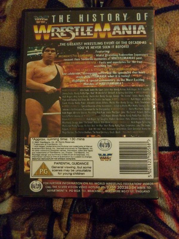 The History of Wrestlemania Dvd