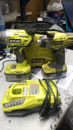 Ryobi impact drill set 2 18v lithium batteries for Sale in Jacksonville, FL